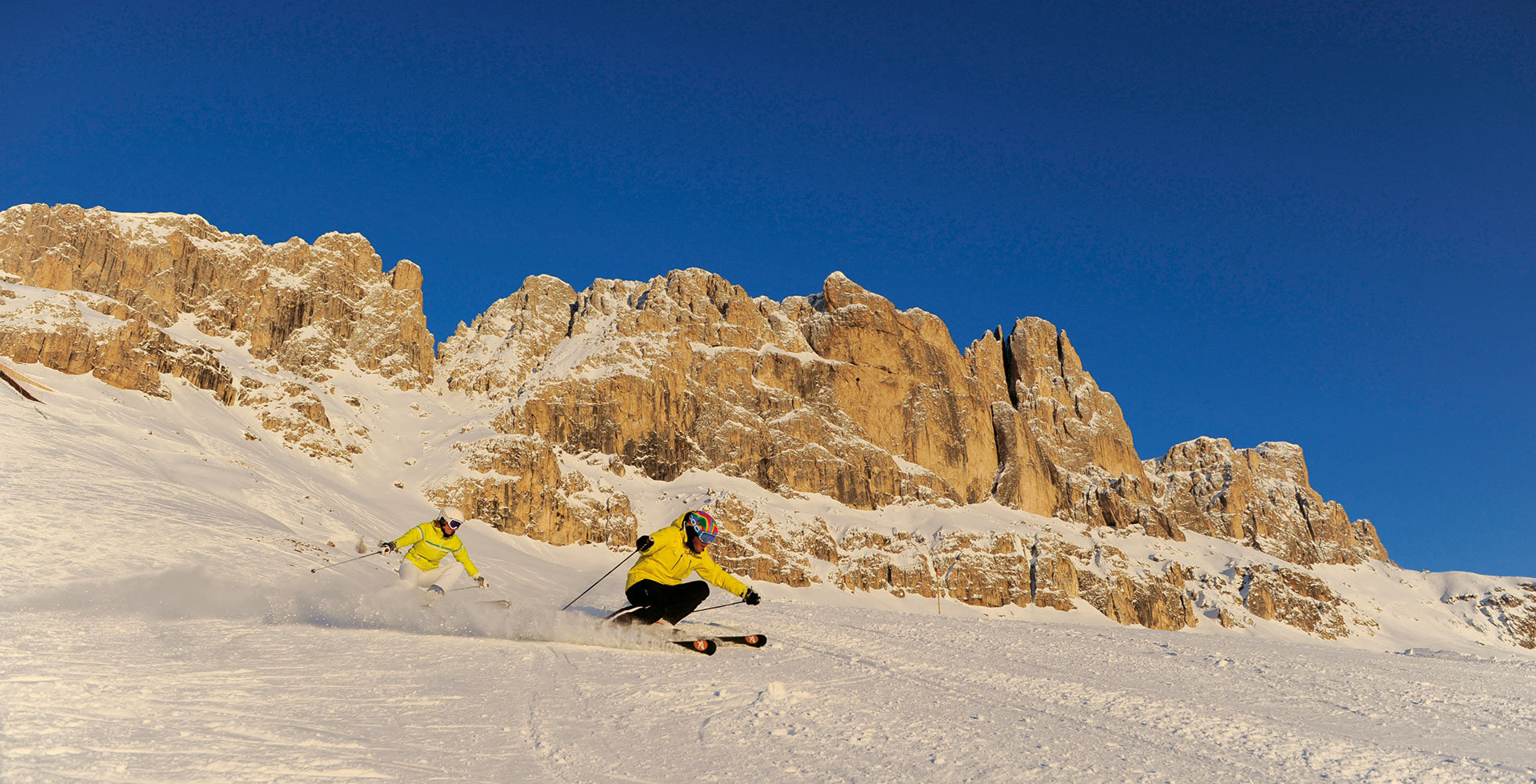 Skiing in the heart of the Dolomites