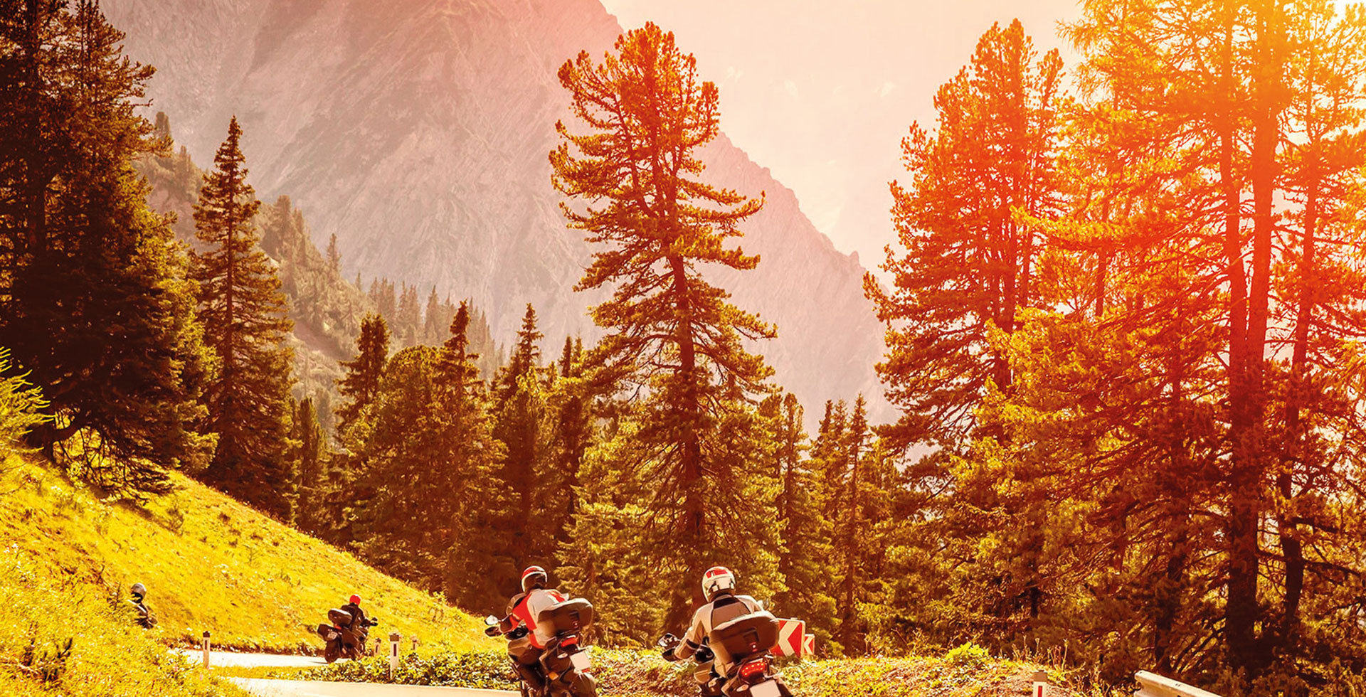 Motor-bike tour in the Dolomites