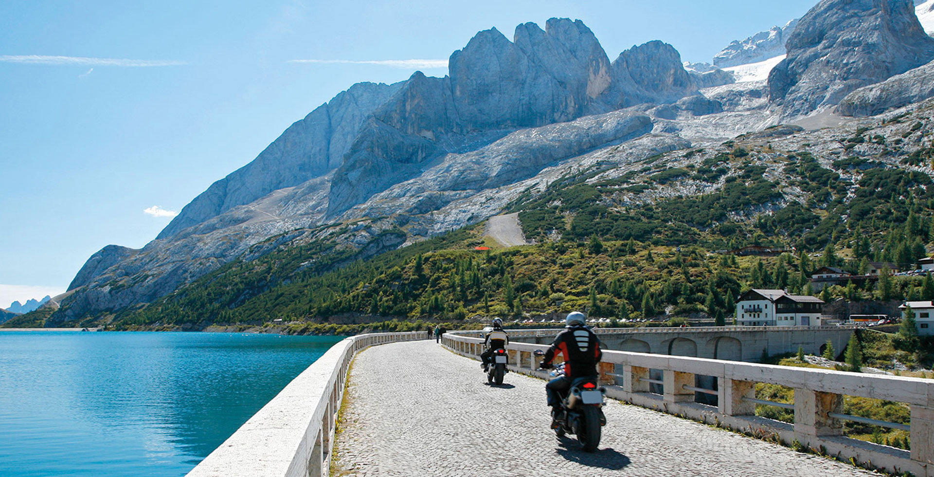 Bikers on Tour Dolomite passes