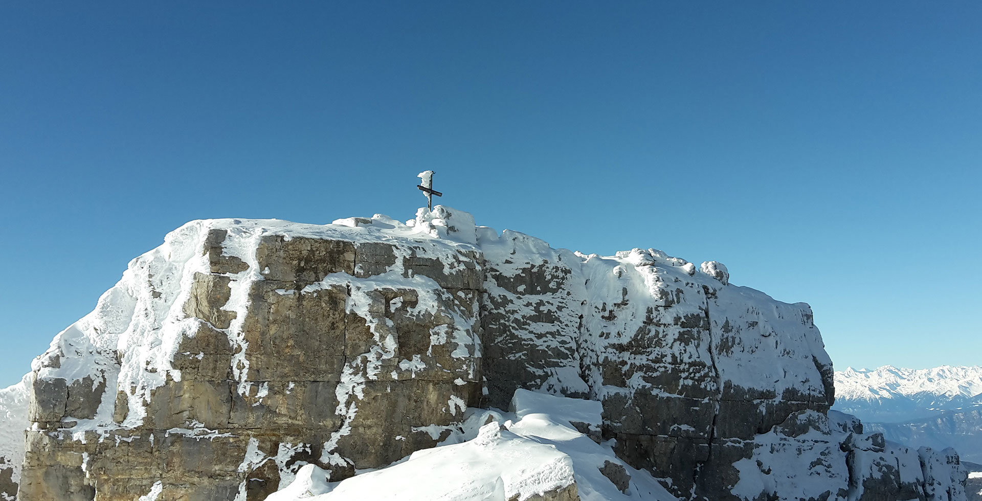 Winter hiking Dolomites UNESCO World Heritage