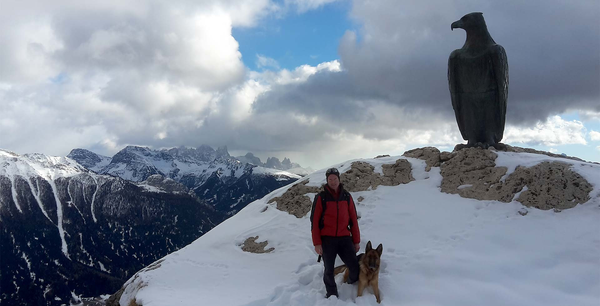 Winter hiking South Tyrol